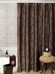 nautica west end blue brown beige striped fabric shower curtain