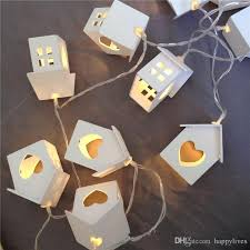 cheap decoration white wooden house led 10
