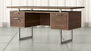 Executive Desk And Credenza Clybourn Walnut Executive Desk Crate And Barrel