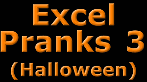 excel pranks 3 halloween colored tabs light show youtube