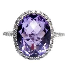 amethyst engagement rings purple amethyst cocktail ring at 1stdibs