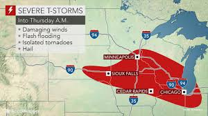 Sioux Falls Map Flood Threat To Mount As Severe Storms Lash Midwestern Us Into