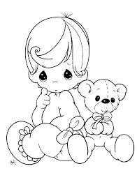 baby doll coloring pages glum