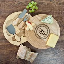 monogram cheese board personalised couples monogram cheese board set buy from