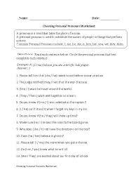 worksheet for grade 1 on pronouns all worksheets indefinite