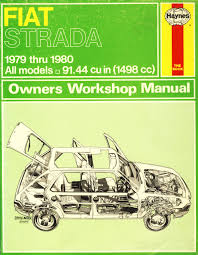 fiat strada owner u0027s workshop manual peter g strasman