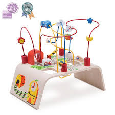 wooden bead toy table wonder world wooden bead maze play table city grace baby