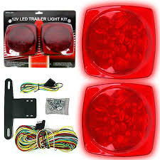 utility trailer light bulbs trademark commerce 75 1872 12 volt led trailer tail light kit