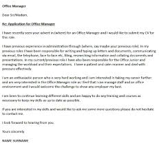 cover letter office manager 28 images basic office manager