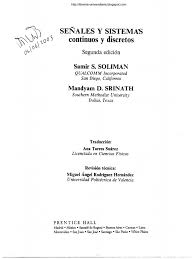 continuous and discrete signals and systems s soliman u0026 m