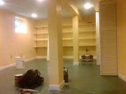 Unfinished Basement Floor Ideas Green Epoxy Basement Floor Painting Unfinished Basement Makeover
