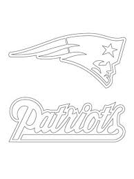 new england patriots logo coloring page free printable coloring in