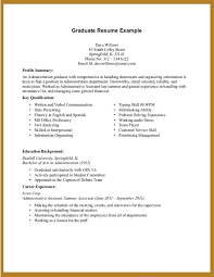 Qualification Profile Resume 10 Job Resume Examples No Experience Resume First Time Resume With