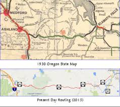 map of oregon freeways california highways www cahighways org routes 97 through 104