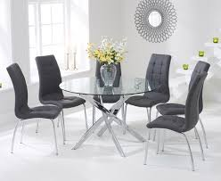 Round Glass Dining Table Set Glass Dining Table Set Dining Room Furniture Sets Brilliant