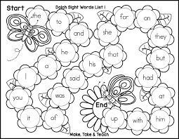 spring themed sight word game boards make take u0026 teach