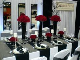 black and white wedding decorations black and wedding