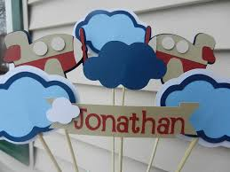 baby shower birthday party its a boy airplane banner 35 00 via