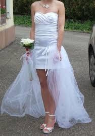 occasion mariage de mariée courte et traîne amovible occasion du mariage