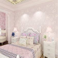 wallpaper kids bedrooms beibehang fashion girl pink pastoral flowers 3d non woven 3d