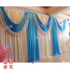 wedding backdrop curtains for sale 3m 6m royal blue swags hot sale white wedding backdrop stage