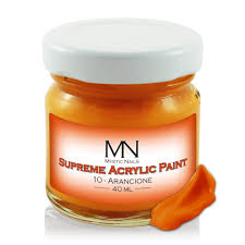 supreme acrylic paint no 10 arancione 40ml supreme acrylic