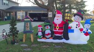 christmas inflatables how to set up a christmas yard decoration