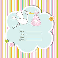 blank baby shower invitations