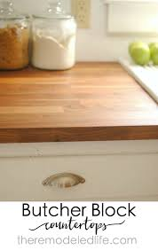 How To Install Butcher Block Countertops by The Remodeled Life Installing Ikea Butcher Block Counters
