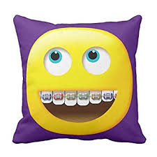 amazon com unique throw pillow cover home decor emoji with braces