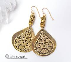 filigree earrings gold brass filigree earrings inspired jewelry