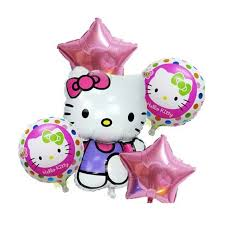 foil balloons new style 5pcs lot hello foil balloons pink happy