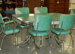 Green Kitchen Table And Chairs Green Formica And Chrome Retro - Green kitchen table