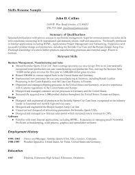 Skills Template For Resume Relevant Skills Resume Template