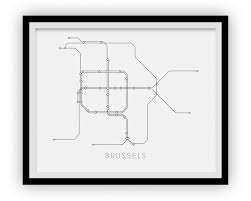 Brussels Metro Map by Brussels Subway Map Print Brussels Metro Map Poster U2013 Ilikemaps