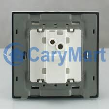 modern design black crystal glass panel doorbell switch 0031168