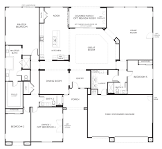 3 Bedroom Plan One Story Ranch Style House Plans Traditional House Plan First