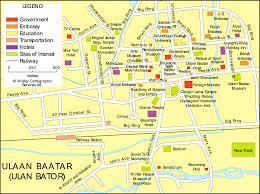 Mongolia Map Central Ulan Bator Map Horseback Mongolia