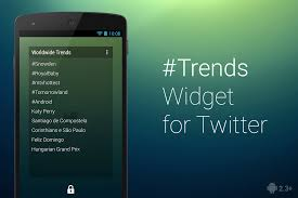 Trends Trends Widget For Twitter Android Apps On Google Play