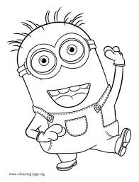 coloring dazzling minion colouring download free