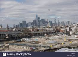 the industrial gowanus brooklyn neighborhood in the foreground