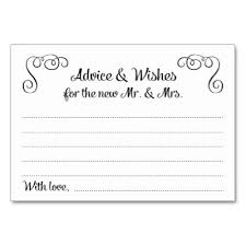 wedding wishes and advice cards the key to a happy marriage cards table cards zazzle