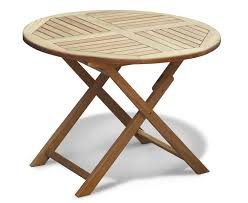 Gloster Teak Protector by Lymington Teak Round Garden Table 0 8m 1 5m Outdoor Patio Wooden