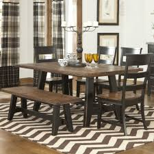 rustic brown table with black chairs feats plaid textured curtains furniture rustic brown table with black chairs feats plaid textured curtains snazzy brown table