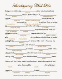 Printable Thanksgiving Games Adults Thanksgiving Mad Libs Keep The Kids And Even The Adults Happy