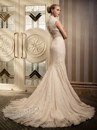 Wedding Dress With Train Spanish Lace Wedding Dress With Cap Sleeves And Long Train