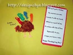 handprint turkey thanksgiving craft poem preschool items