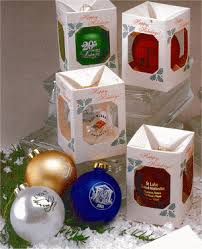 Box Ornament Corporate Ornaments Custom Imprinted With Company Logo