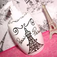 themed soap dispenser decor themed bathroom accessories eiffel tower soap