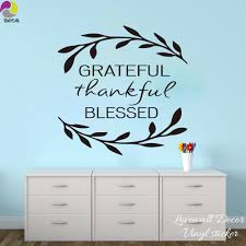 quotes new home blessings grateful thankful blessed wall sticker living room bedroom family